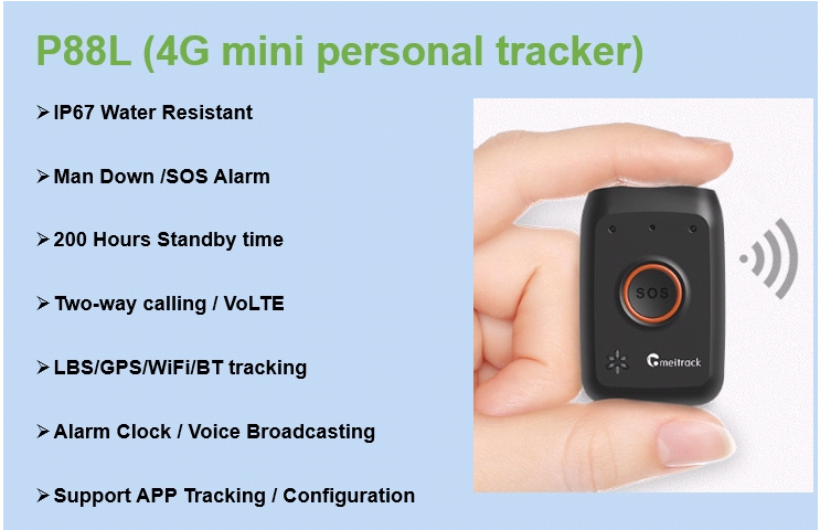 P88L 4G Mini GPS Tracker